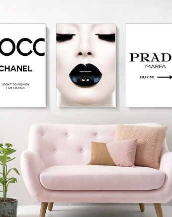 black dot studio, Plakaty Fashion Coco Chanel plakaty Prada Marfa