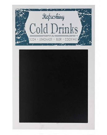tablica drewniana, Tablica Ścienna Cold Drinks White