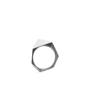 925, ONE EDGE Classic / satin BLACK ring