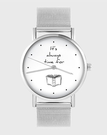 Zegarek - It is always time for a book - metal