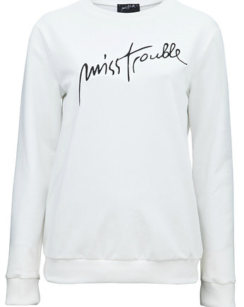 Bluza White Miss Trouble