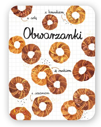 LOVE POLAND DESIGN, Magnes Obwarzanki 63x90mm