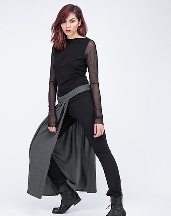 pudu, pleated half-skirt