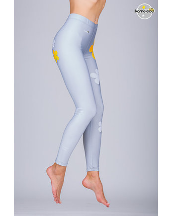 KAMELEOO, Legginsy Floower Power High - Yellow
