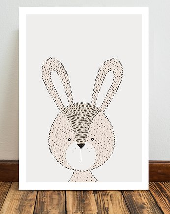 Miss Rabbit Mr Fox, Królik plakat  50x70 cm / A3 / A4