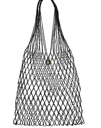 Linen Knotted Net Bag