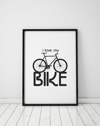 sport, plakat. i love my bike