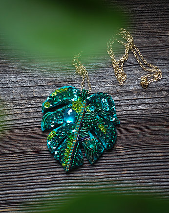 Mrosoutache, Monstera-  zielony wisior