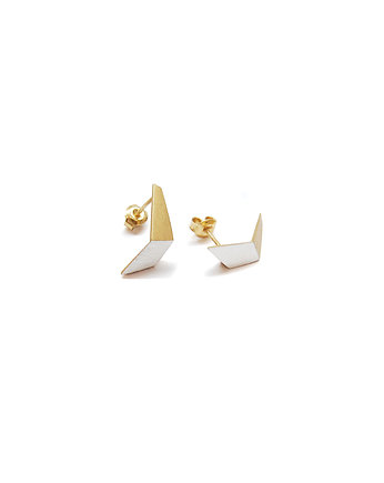 Filimoniuk, ONE EDGE flexed / satin GOLD earrings
