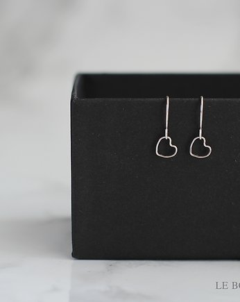 Minimalist Heart Earrings in Silver