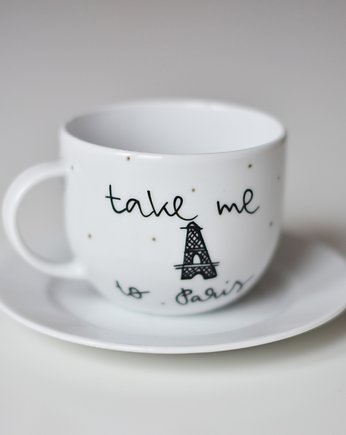 my mug company, Filiżanka TAKE ME TO PARIS