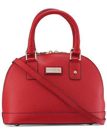 vegan bag, Torebka kuferek Vera Red