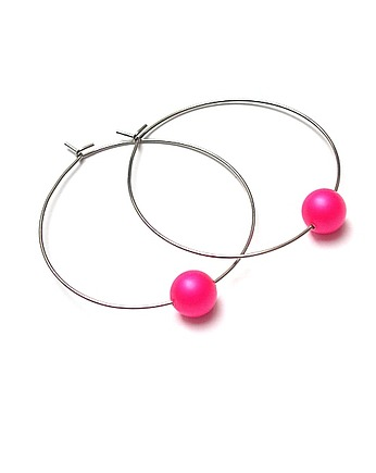 Alloys Collection /one pearl/ neon pink