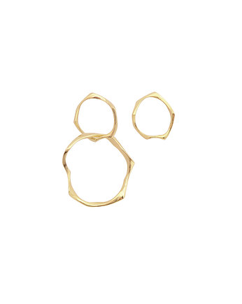 Filimoniuk, WAVES Circle asymmetrical / gold earrings