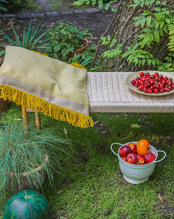 Zero Waste, Fringe pillow - yellow