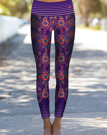 Bright Boho, Boho Flowery Leggings