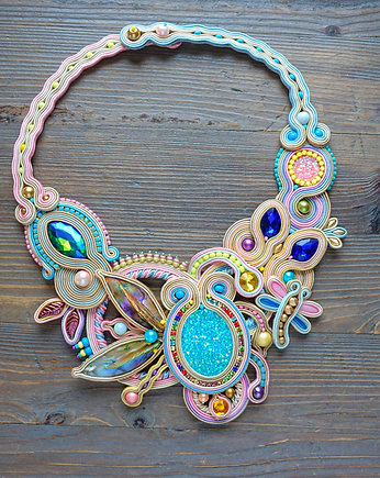 Mrosoutache, Secret Garden - naszyjnik soutache