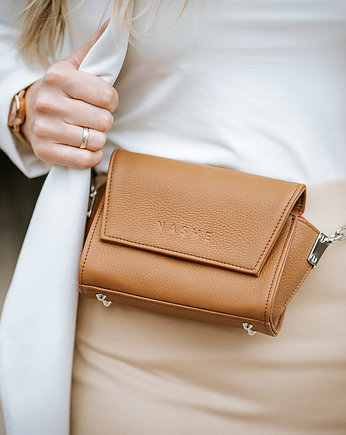 Crossbody bag, Torebko Nerka  Switch Bag Brązowa Camel