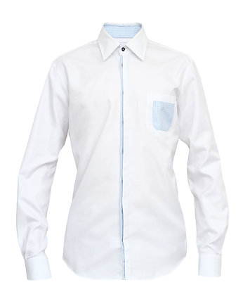 koszule, Shirt White Pocket