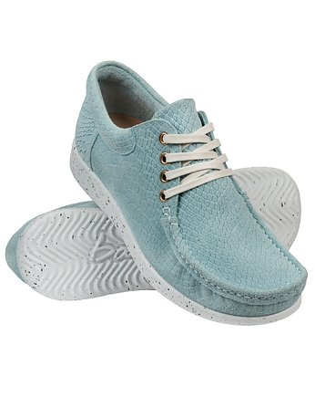 Bara made by Wama Polen, Suede Baby Blue  Moccasin