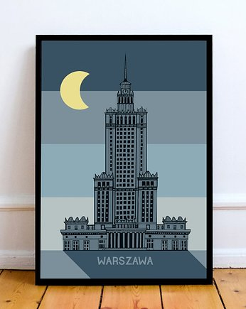 LOVE POLAND DESIGN, Plakat Pałac Retro Noc