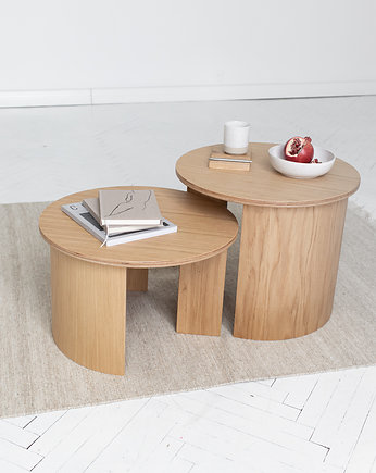 NUDO design , Stolik kawowy GIRO Coffee Table dąb