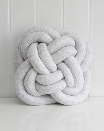 Quiet Gray, FLOWER KNOT PILLOW=rozeta=melange