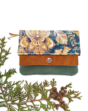 portfele, Portfel Boho Mini - Lotus Green
