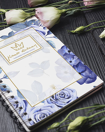 data,  Planer / Planner dzienny B5 Blue Flower 2019-21
