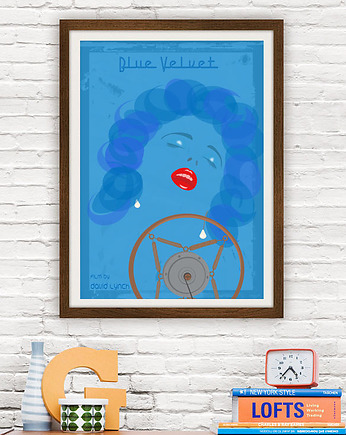 minimalmill, Blue Velvet - David Lynch - plakat 50x70 cm