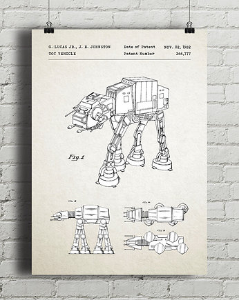 Star Wars AT-AT - patent - plakat vintage