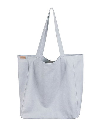 Quiet Gray, Lazy bag torba jasnoszara na zamek / vegan / eco