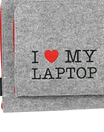 macbook air, POKROWIEC NA LAPTOPA i zasilacz I Love My Laptop