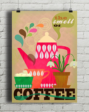 The Smell of Coffee - plakat giclee