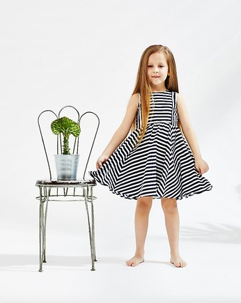 Navy Marine Stripes Dress