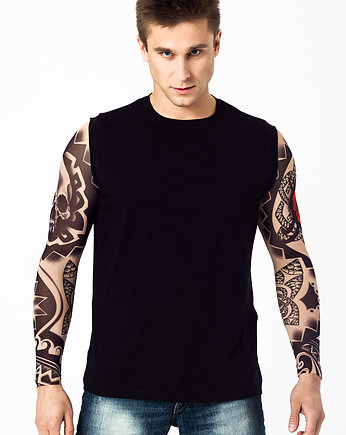 Tank top męski z tatuażami Dark Skull Tribal
