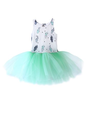 dress cactus tulle green