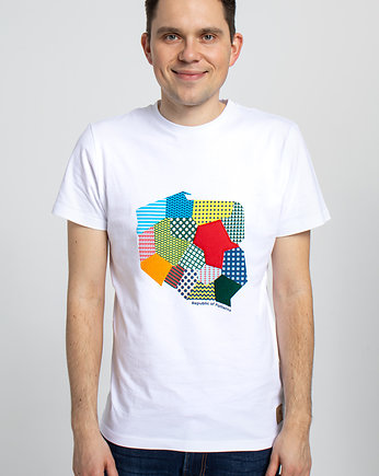 Republic of Patterns, T-shirt haftowany męski Polska