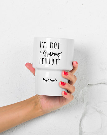 handlettering,  Kubek 500ml bez ucha *I'M NOT a MORNING PERSON*