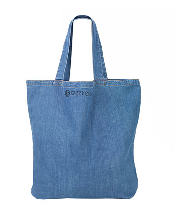Torba denim Shopper na weekend