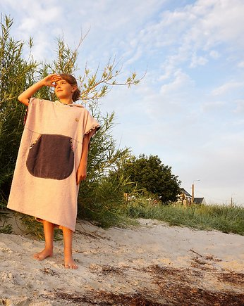Surf Poncho - Powder Pink