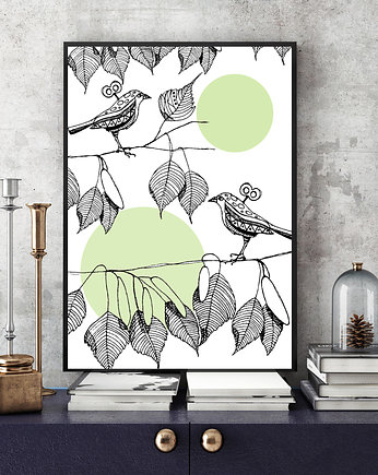 Parallel World, Little Birds... art print a4