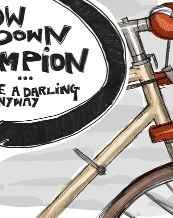 slow down champion / plakat