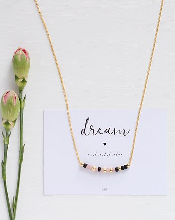 lebohobleu, DREAM Morse Code Necklace