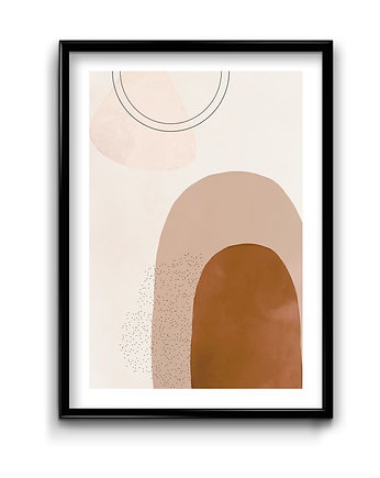 Bury Lis, Abstract Beige #1 - plakat