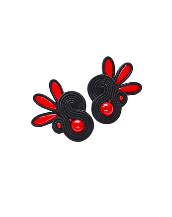 bizuteria autorska, Flamenco collection- PILAR- kolczyki Soutache
