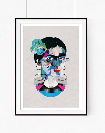 Modne wnętrza, Frida Geo A3 illustrations art Giclée print