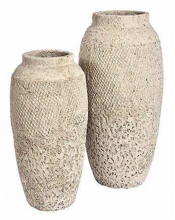 Home Design, Wazon Sirocco A beżowy cement wys. 41cm