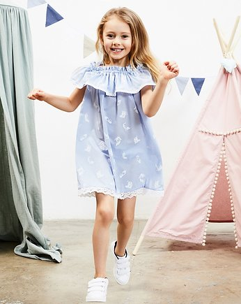 błękitna sukienka, Sukienka Little Ballerina Blue Dress