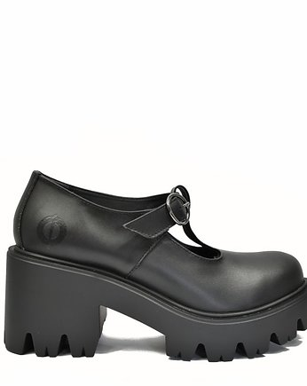 black, ALTERCORE botki na platformie Mary Vegan Black